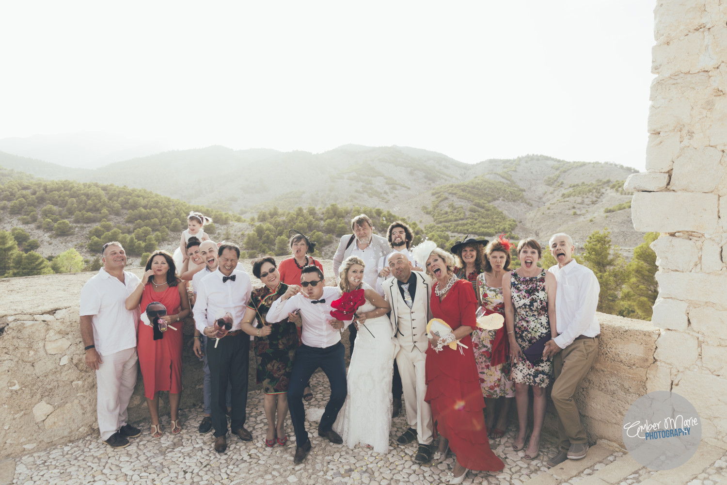 Quirky wedding photographer leeds shoots international wedding in spain