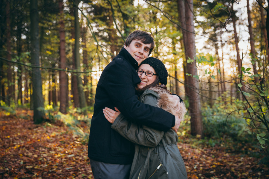 Becky & Chris' Engagement Shoot in Chevin Forest, West Yorkshire