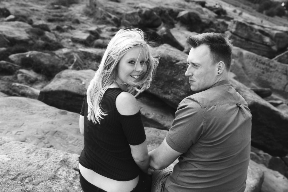 ilkley moors engagement shoot leeds wedding photographers