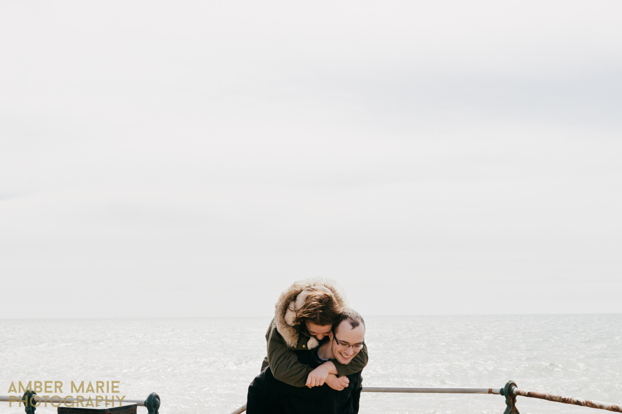creative leeds wedding photographer Brighton engagement shoot