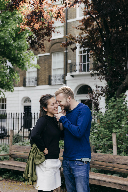 Creative London Wedding Photography Islington engagement photos