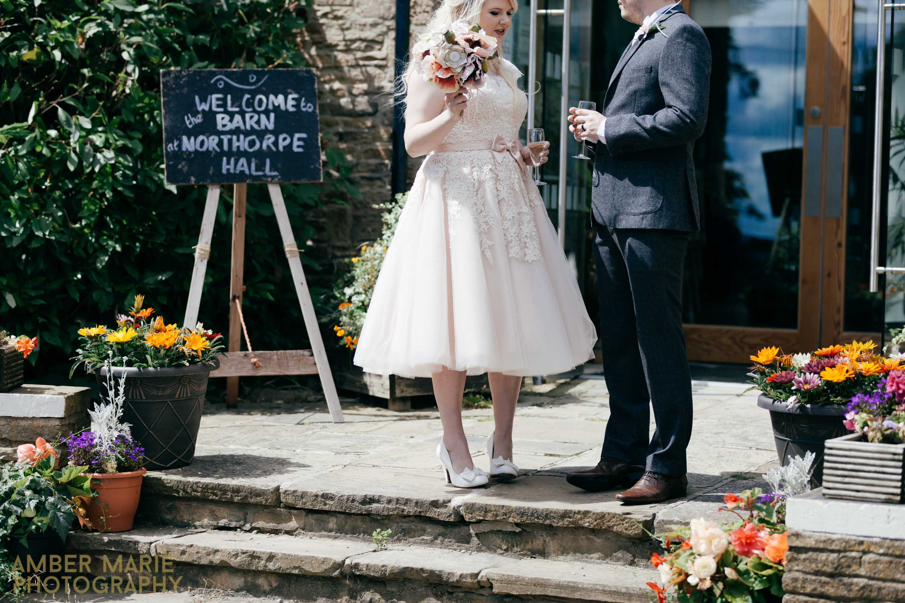 Creative Quirky Yorkshire wedding photographers northorpe hall