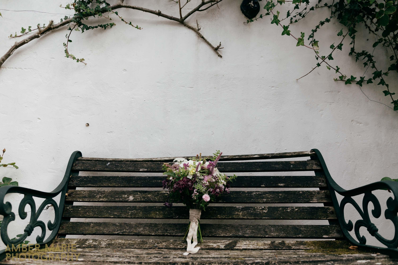 Wild flowers bridal boquet river cottage devon wedding photography