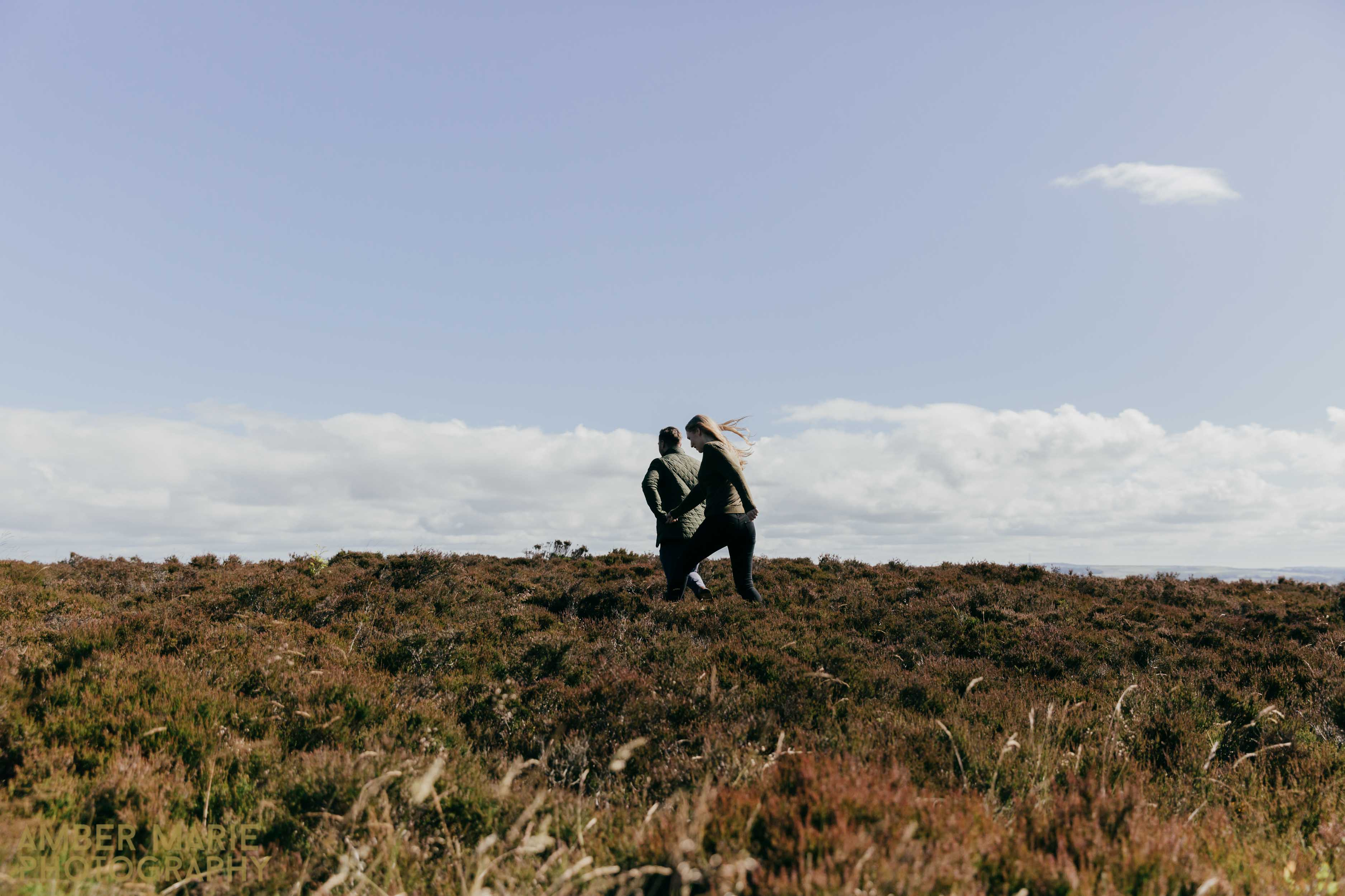 Creative wedding photographers yorkshire engagement photos