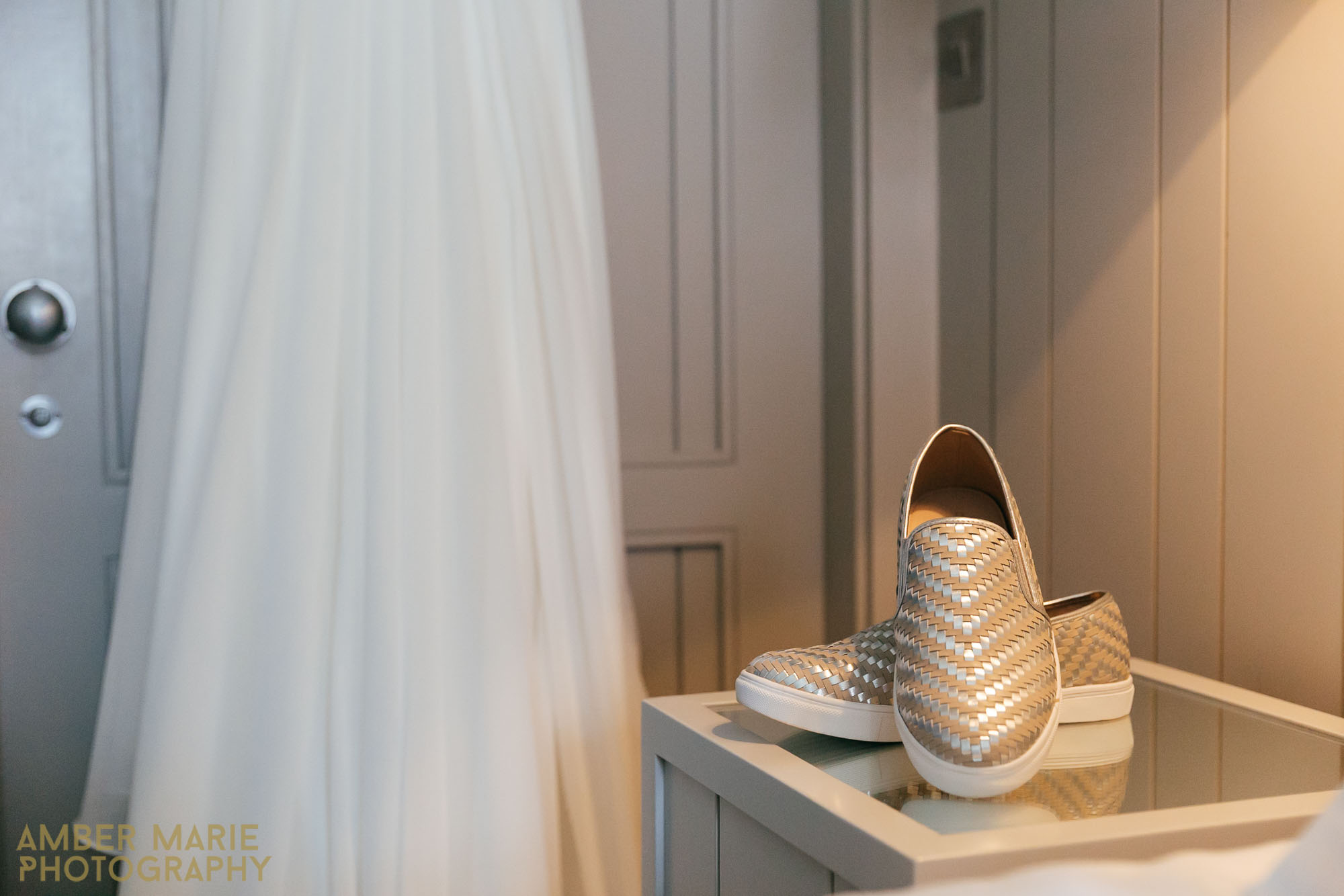 The Hospitium York Wedding - Flat Bridal wedding shoes