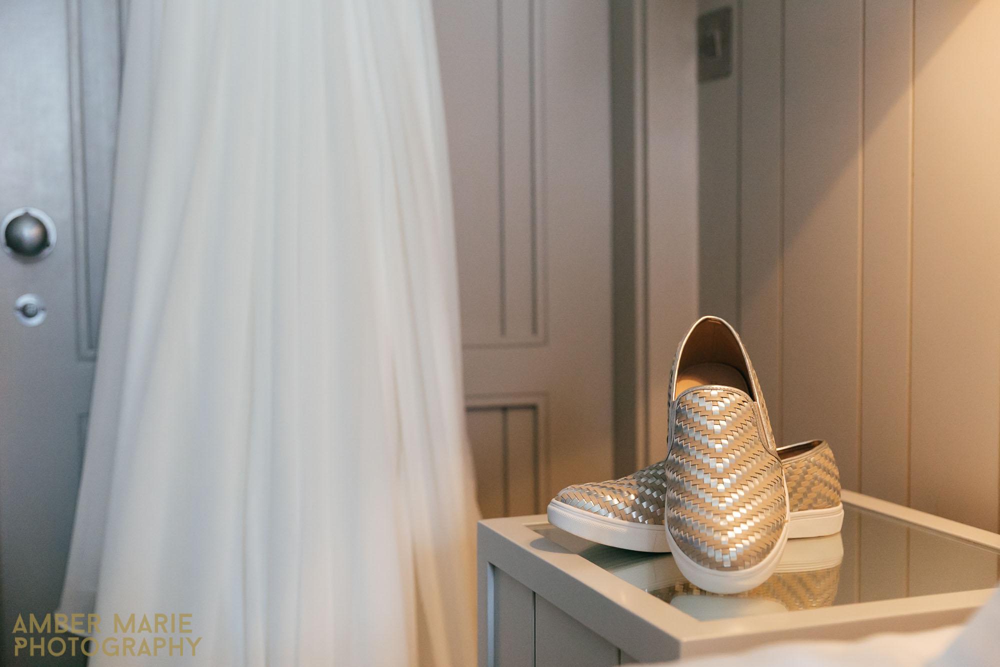 The Hospitium York Wedding - Flat Bridal wedding shoes