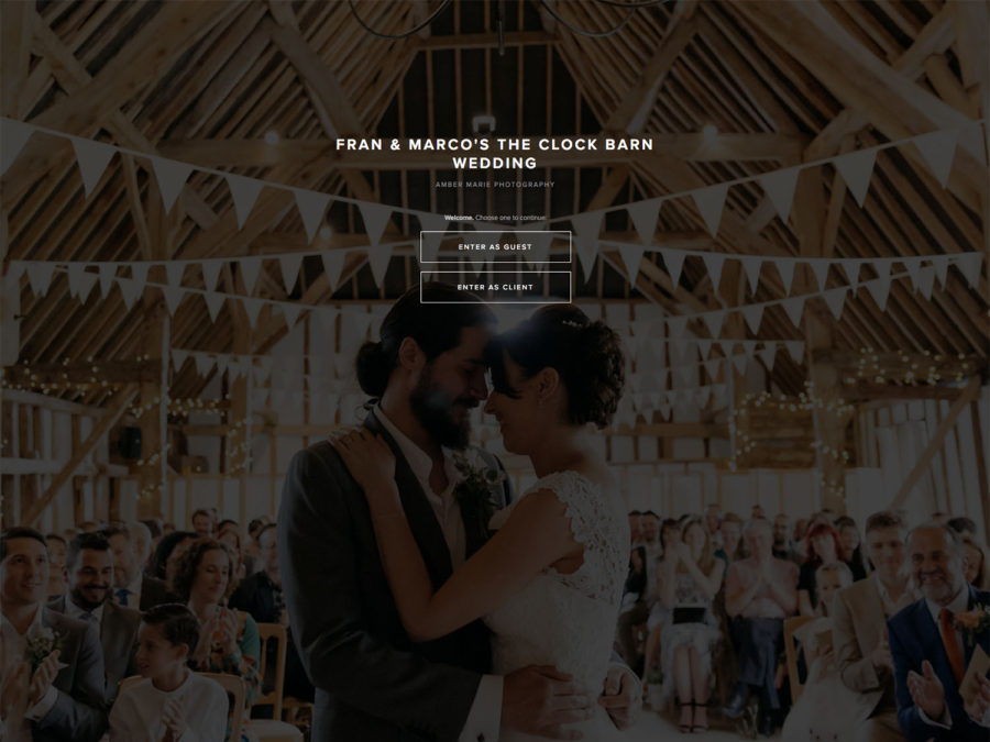 How to use your online wedding gallery