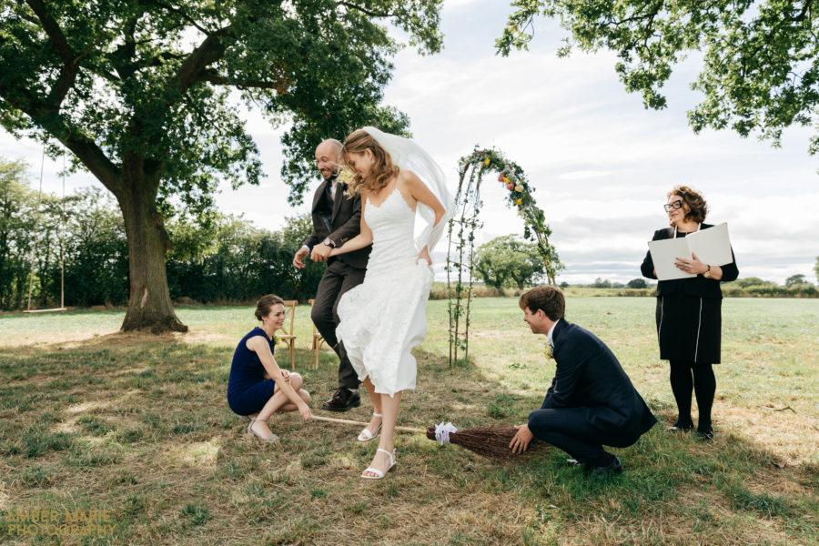 Luci & James' Humanist Garden Wedding