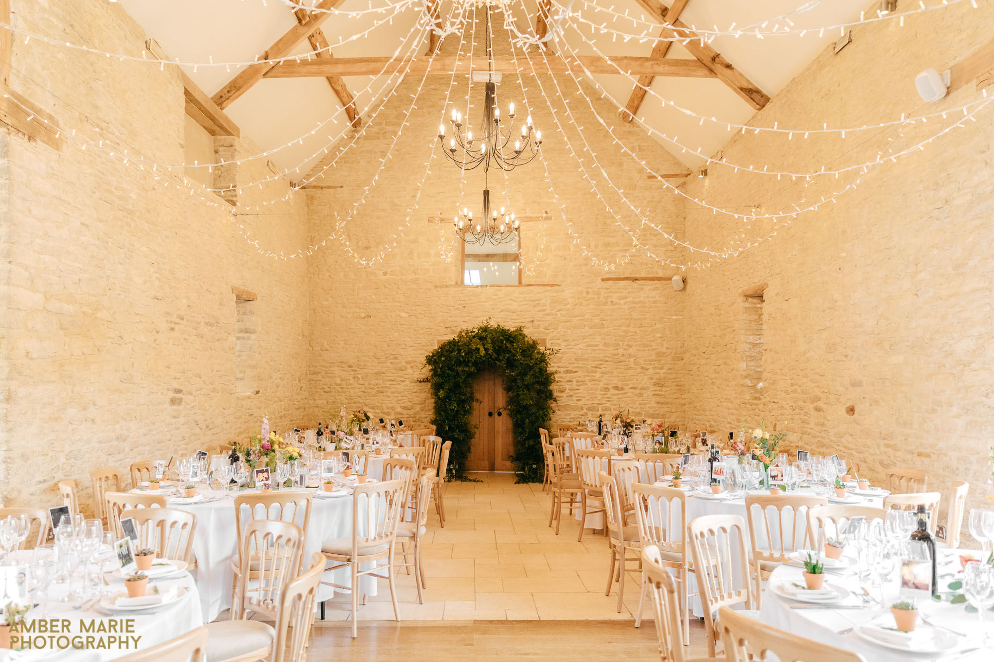 wedding reception at kingscote barn in the cotswolds