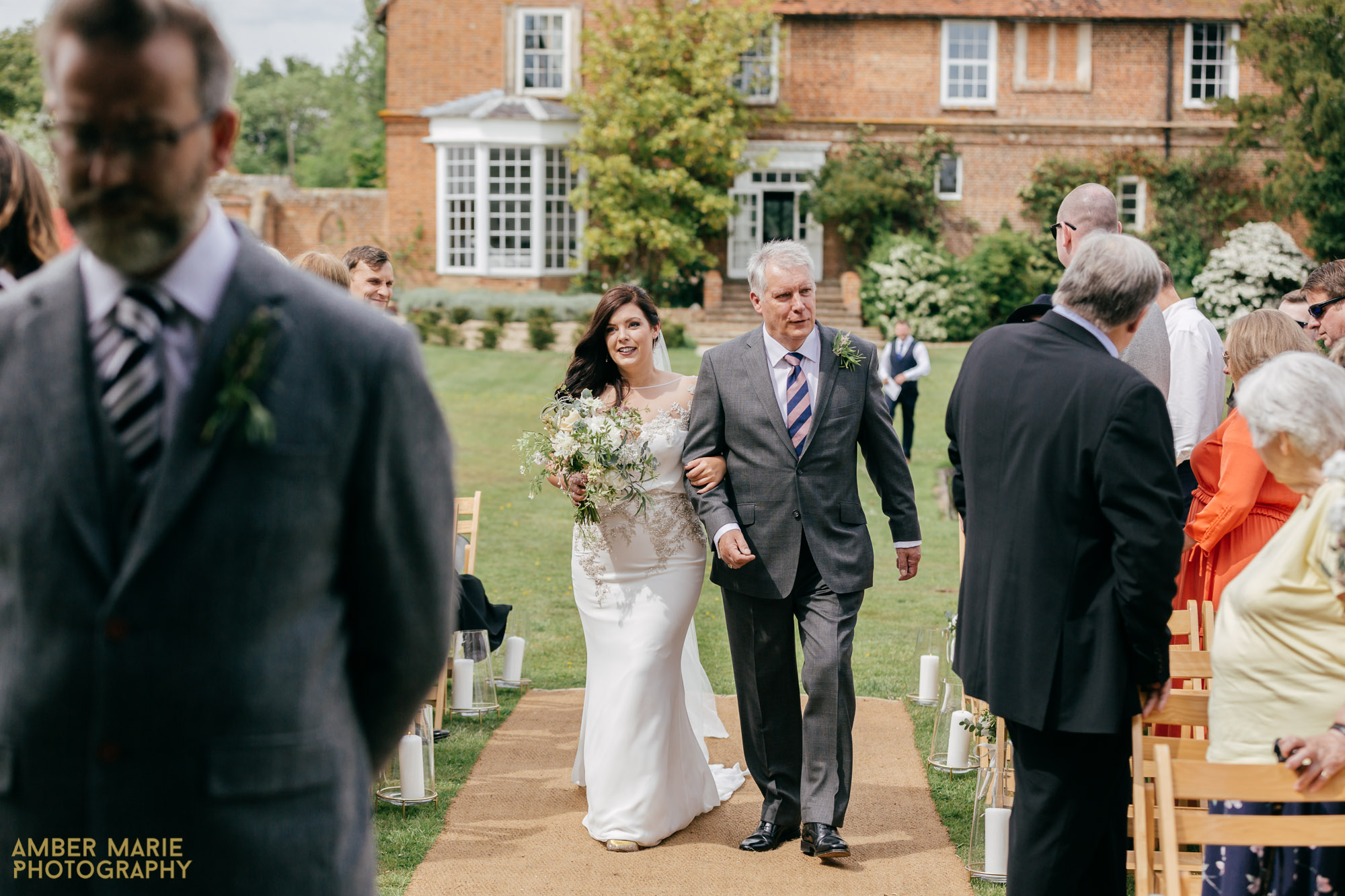 outdoor ceremony at the great lodge wedding venue bardfield