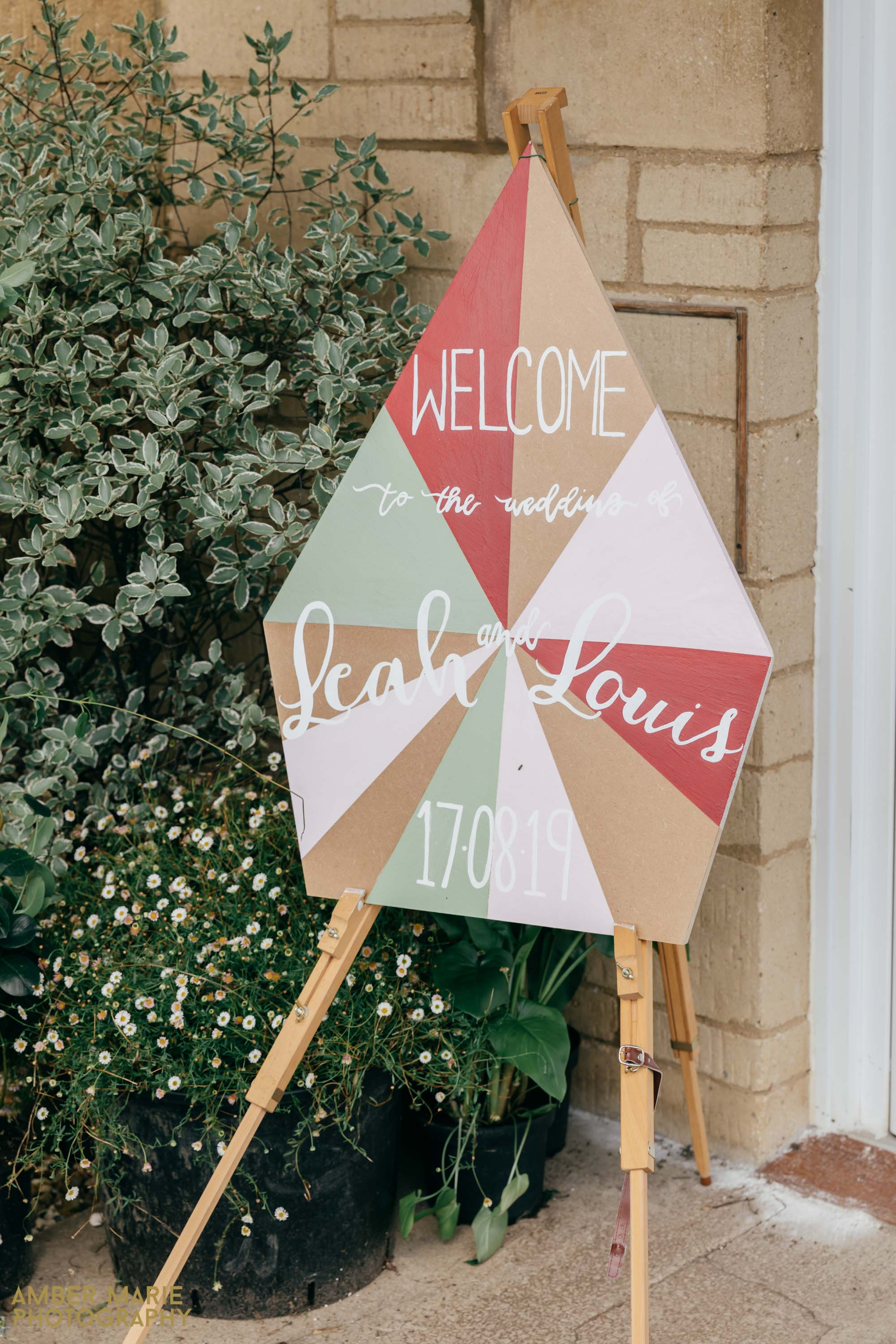 geometric wedding decorations
