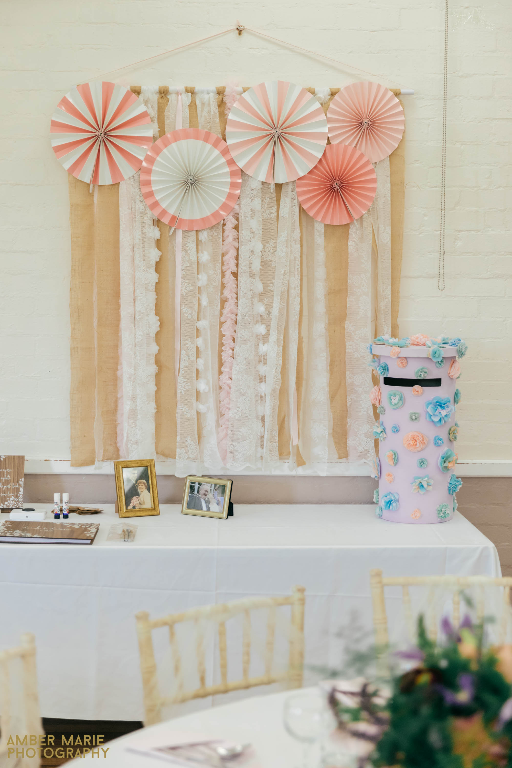 quirky village hall wedding decorations
