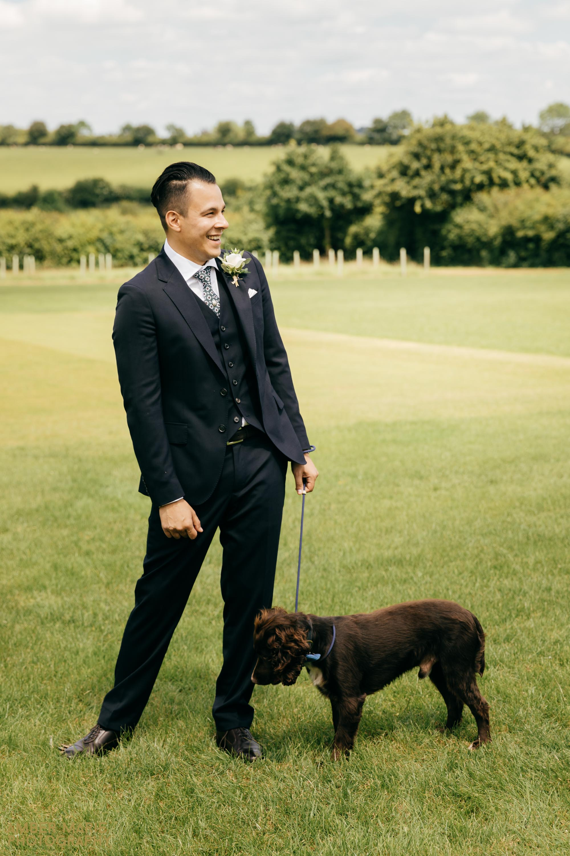 dogs at weddings by wedding photographer gloucestershire