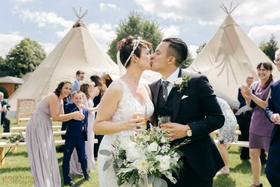 Stacey & Hassan's DIY Tipi Wedding