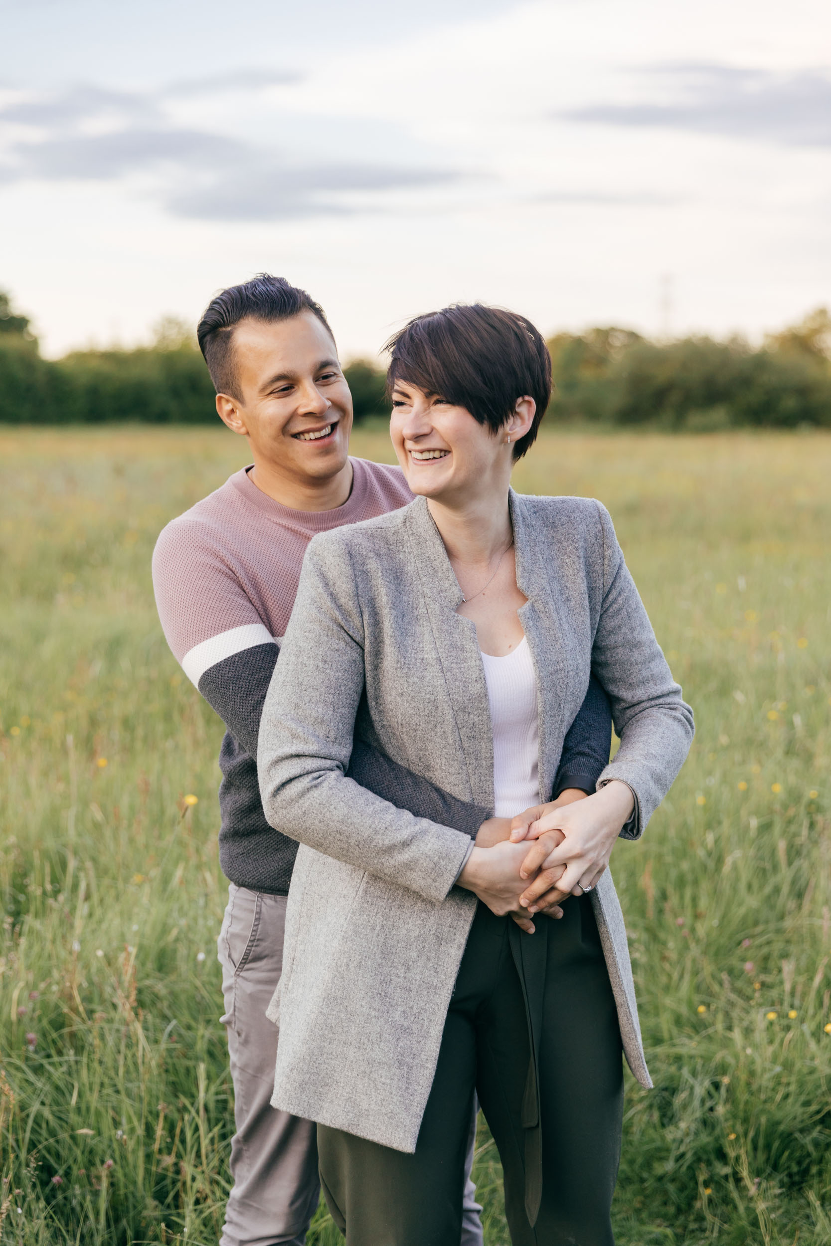 Couples portraits by wedding photographer cotswolds