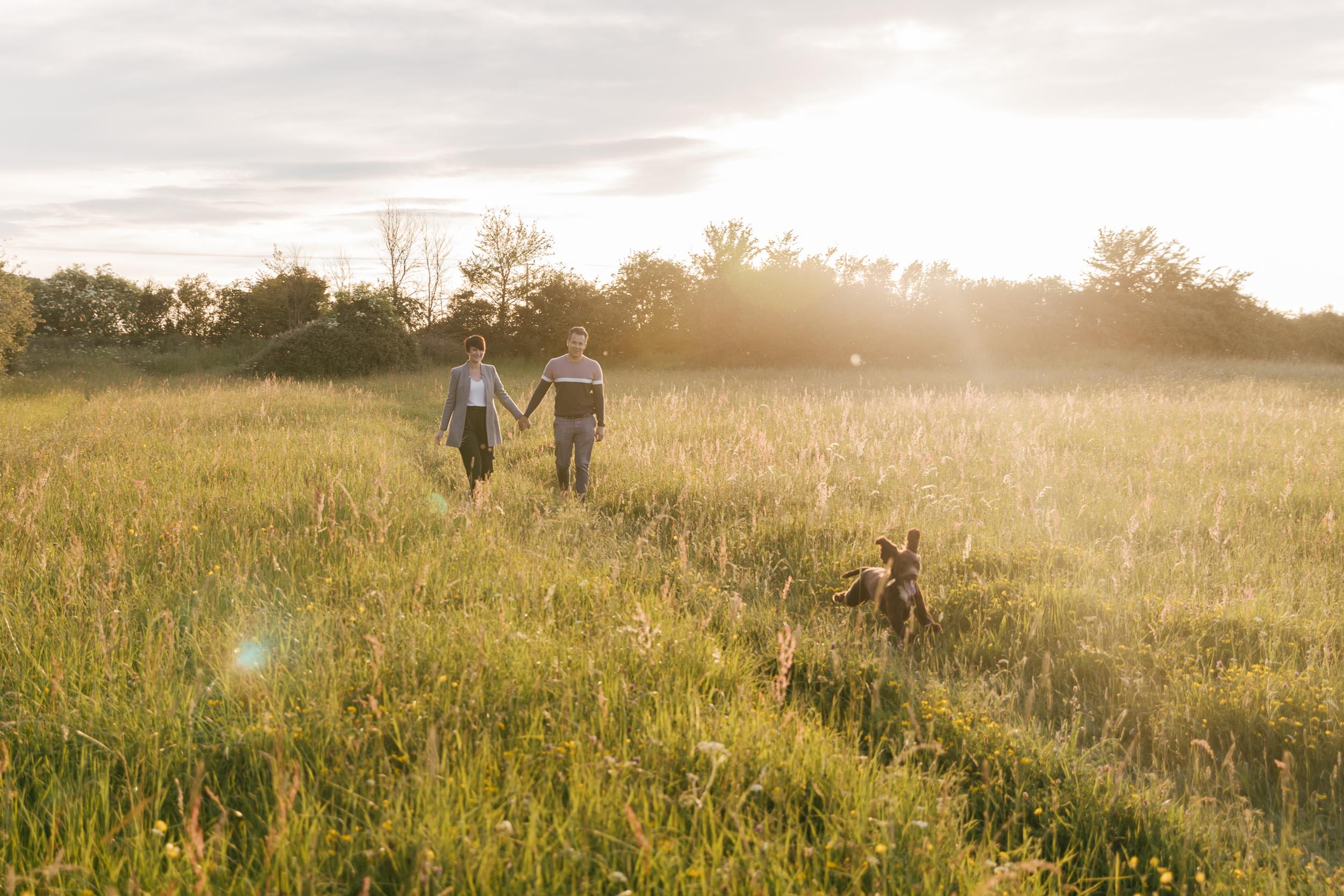 Sunset Cotswold Engagement Photography