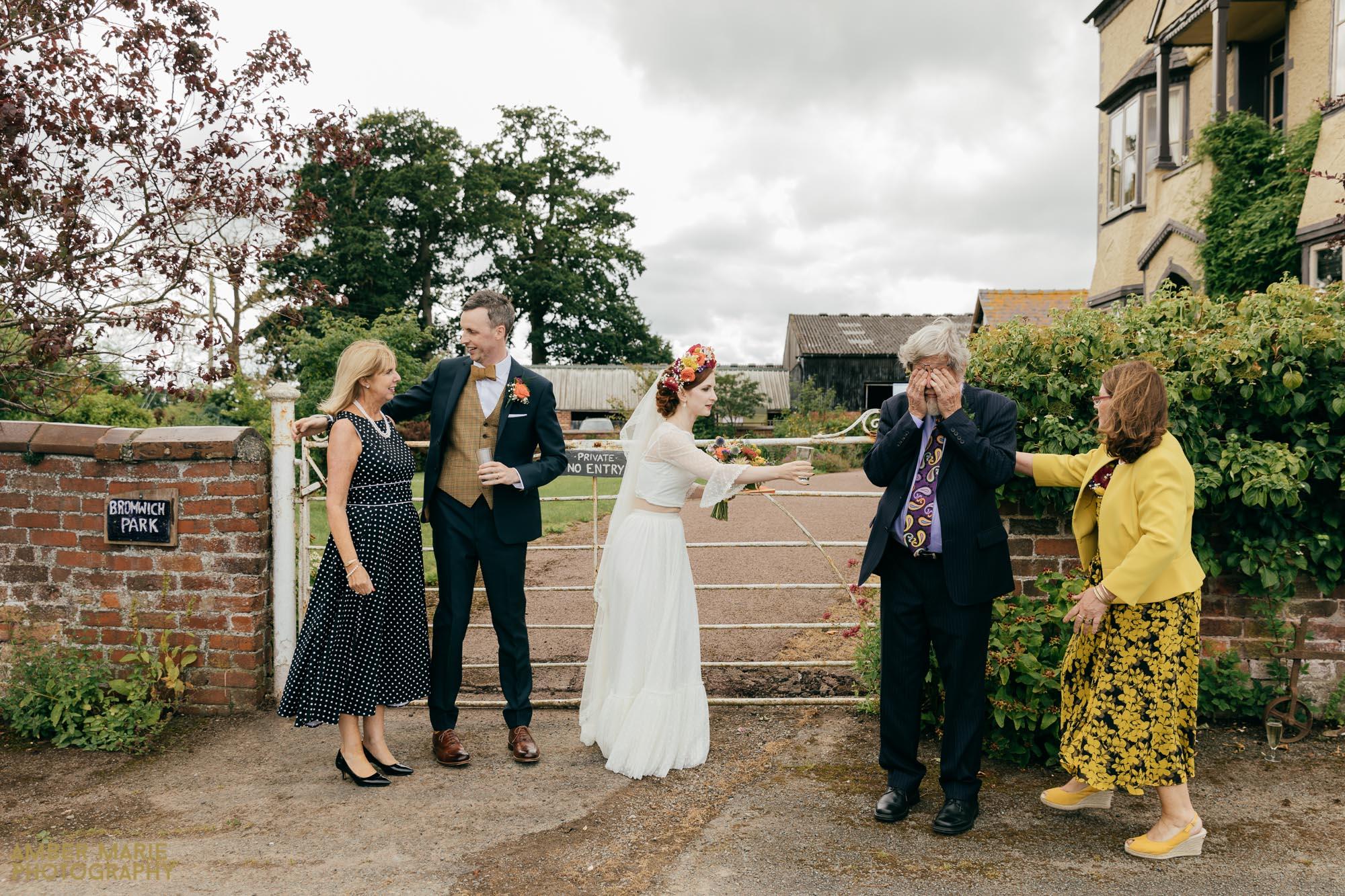 documentary wedding photographer gloucestershire