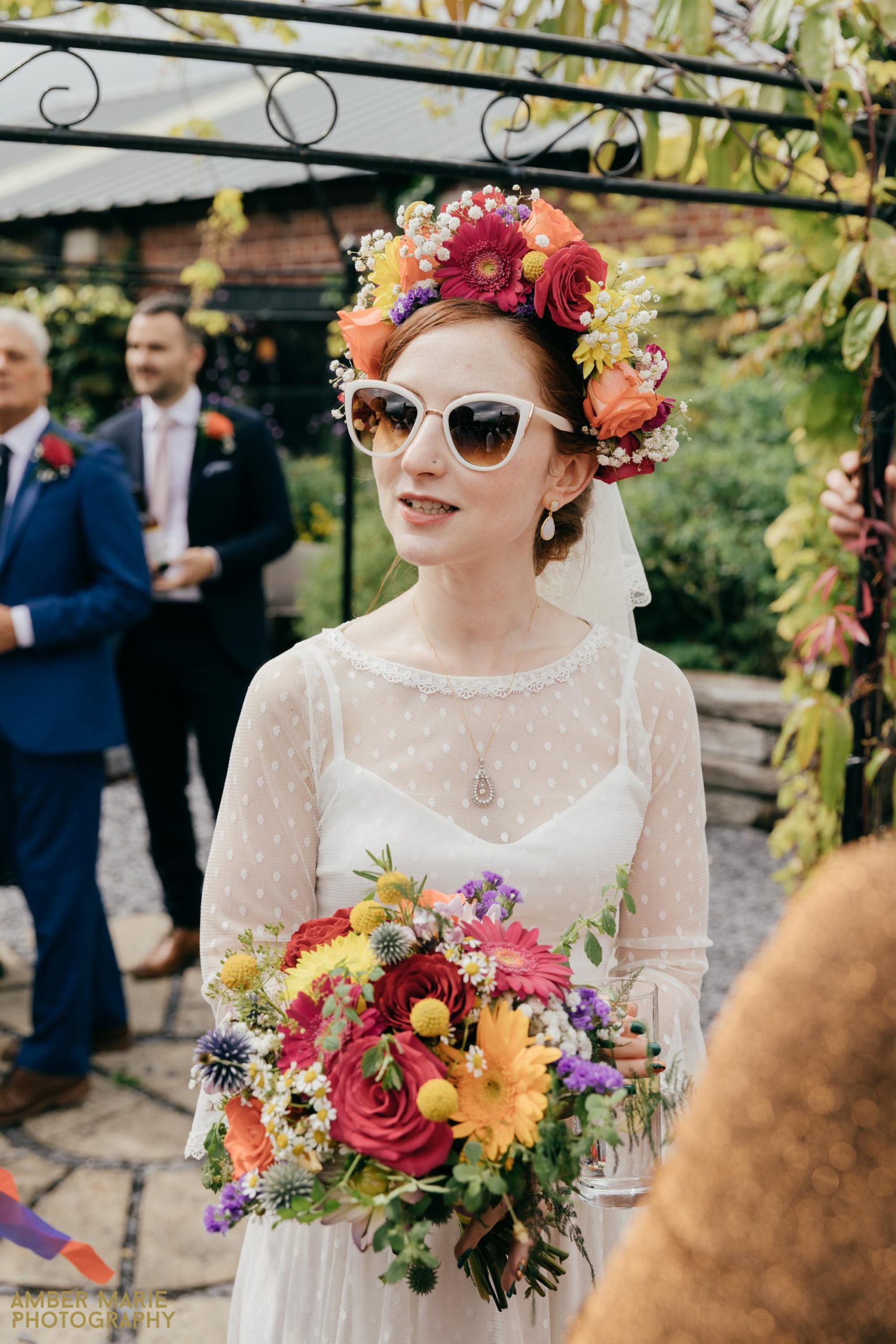 alternative bride by creative wedding photographer gloucestershire