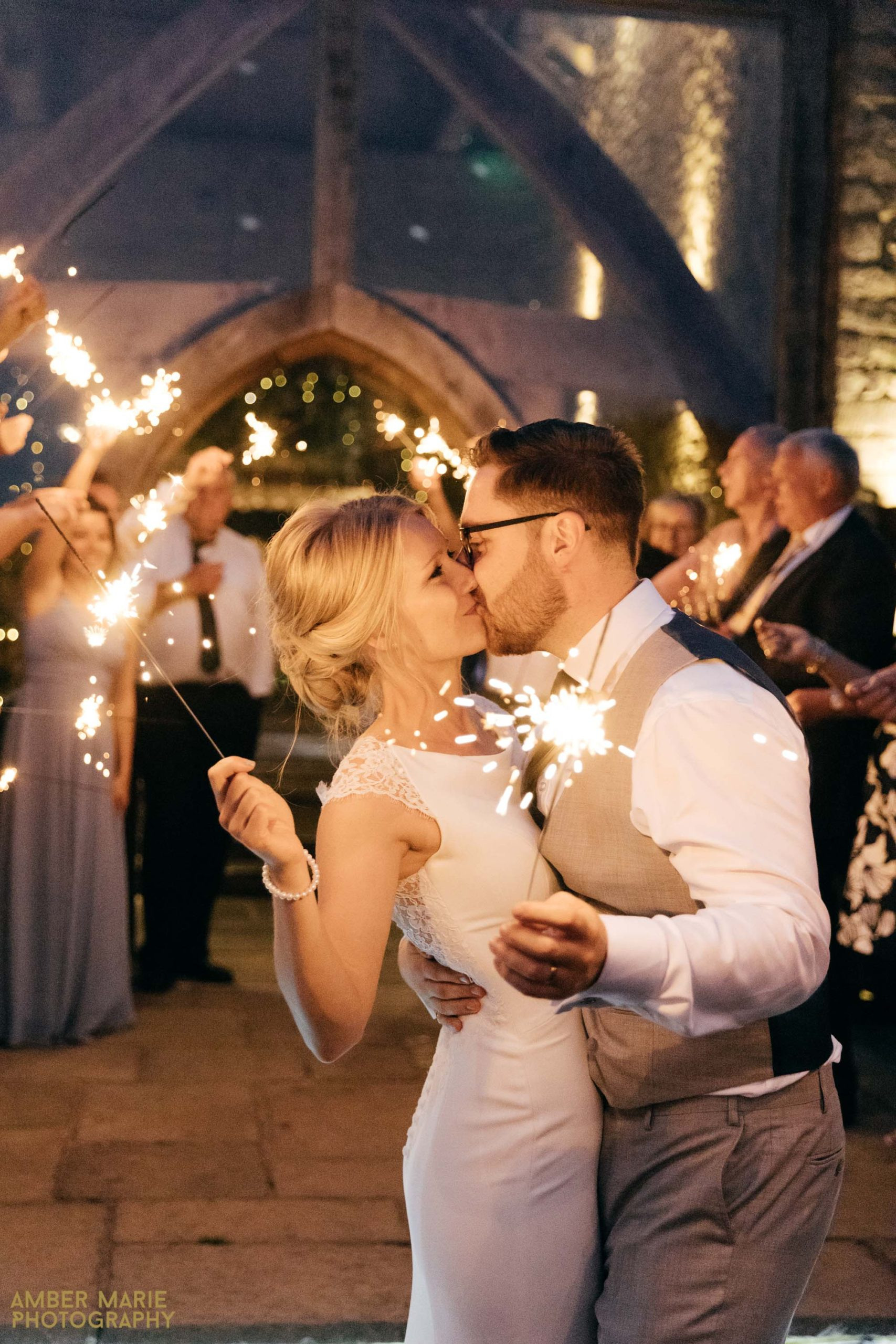 sparklers cripps barn wedding photography