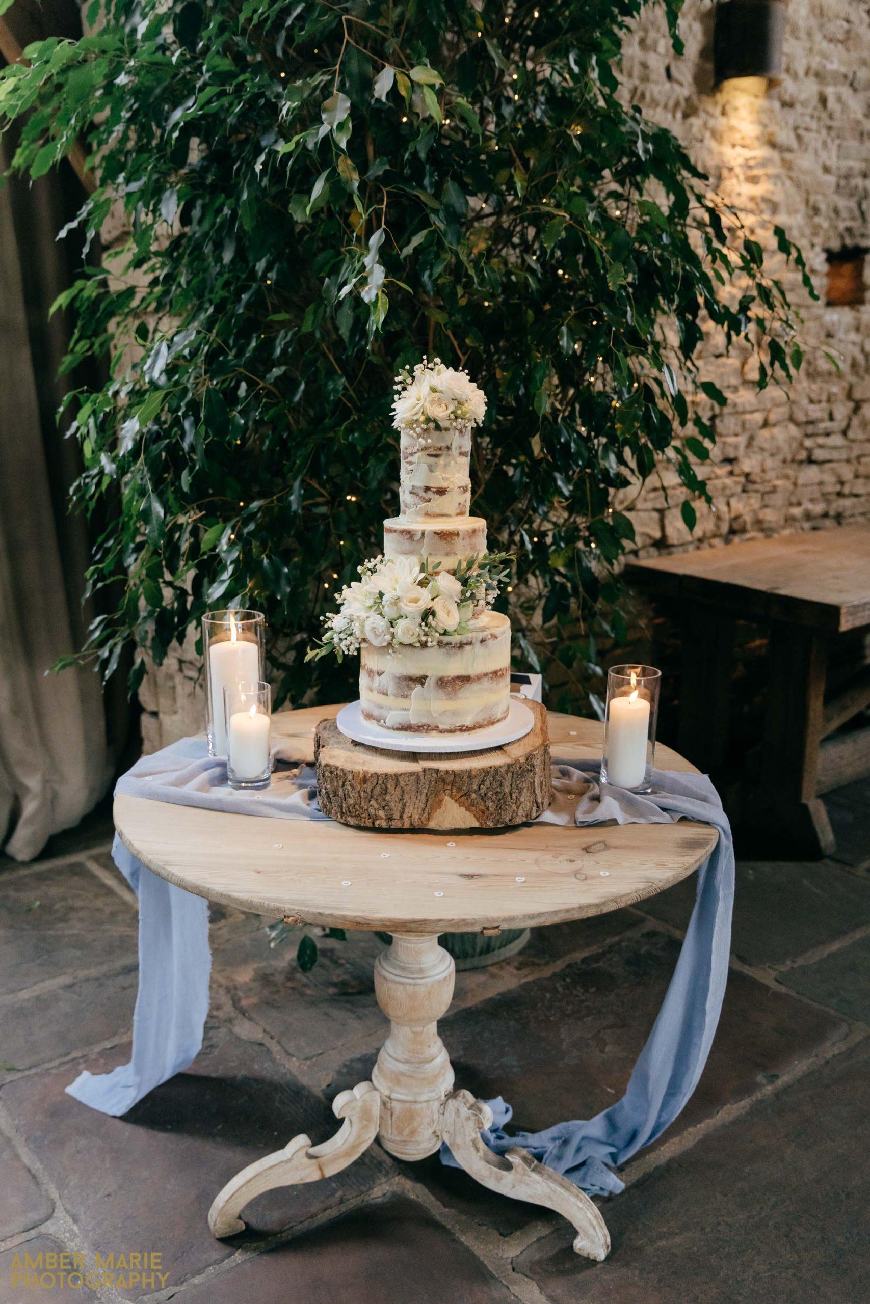 rustic wedding cake cripps barn