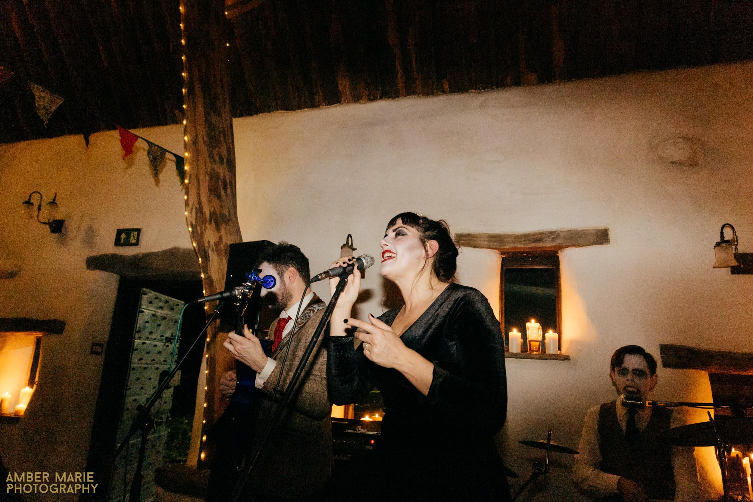 stylish halloween wedding cotswolds