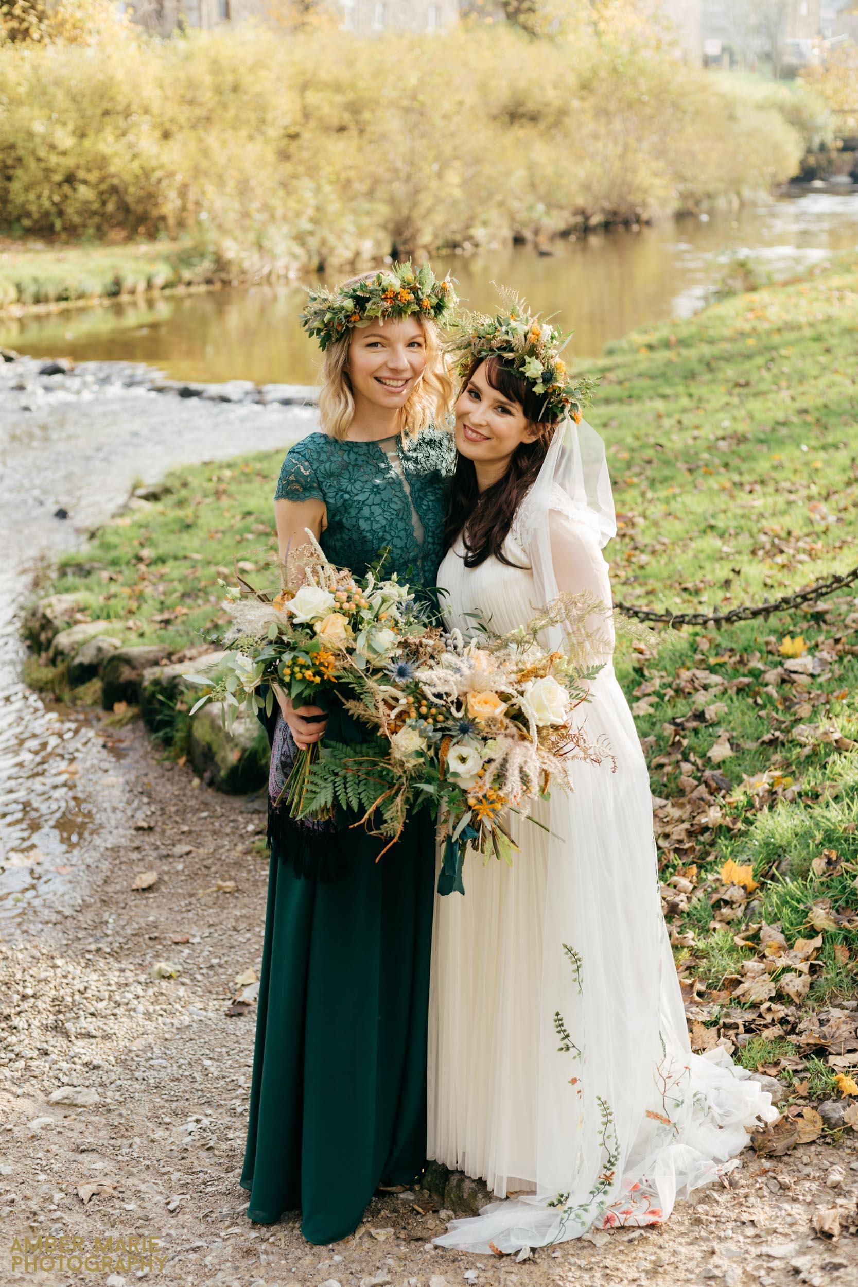 Stylish Halloween Wedding at Cruck Barn Yorkshire