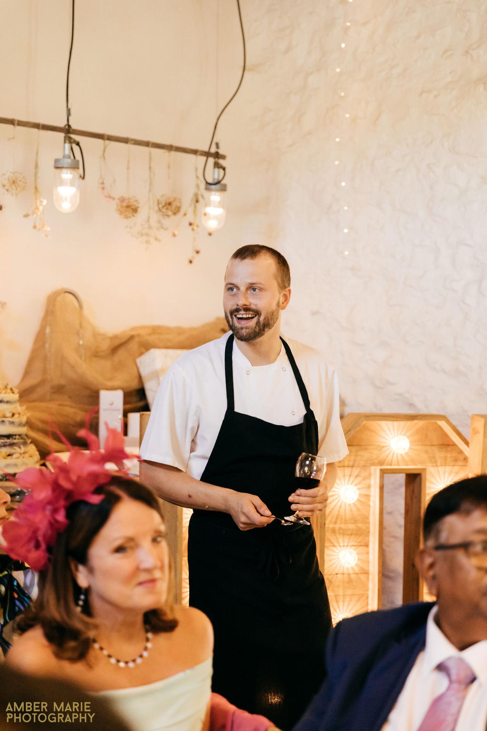 foodie wedding at river cottage devon