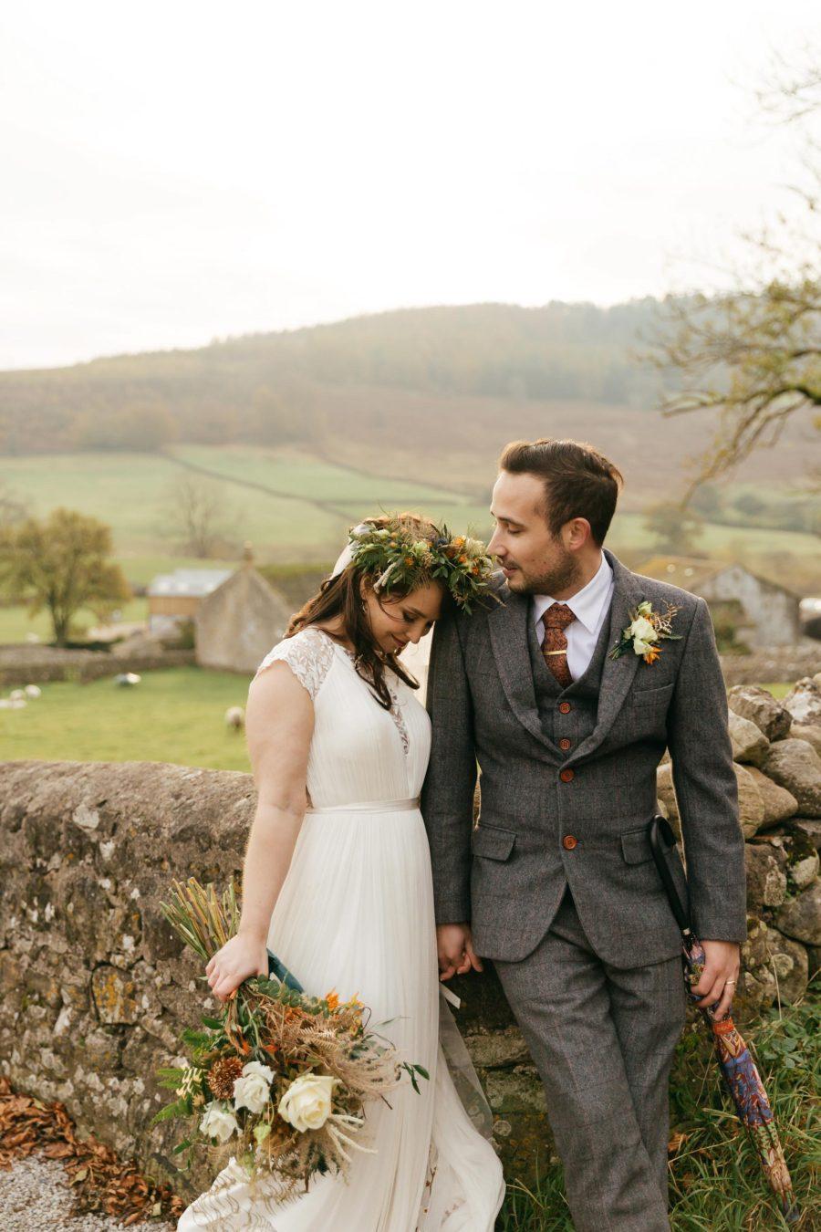 Hollie & Michael's Stylish Halloween Wedding at Cruck Barn